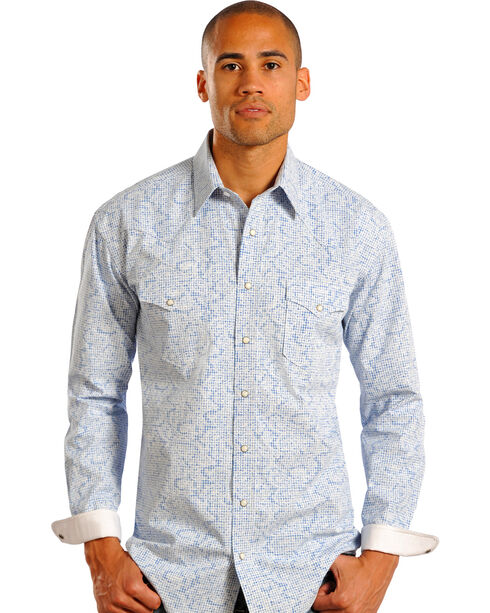Rough Stock by Panhandle Slim Ombre Print Western Shirt, Print, hi-res