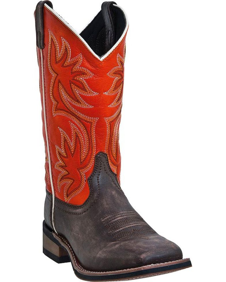 Laredo Gorge Cowgirl Boots - Square Toe, Brown, hi-res