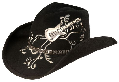 Bullhide Rock 'N' Roll Legend Cowgirl Hat, Black, hi-res