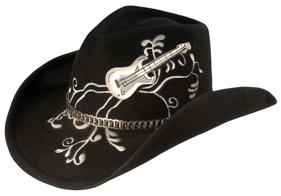 Bullhide Rock 'N' Roll Legend Cowgirl Hat, Black, hi-res