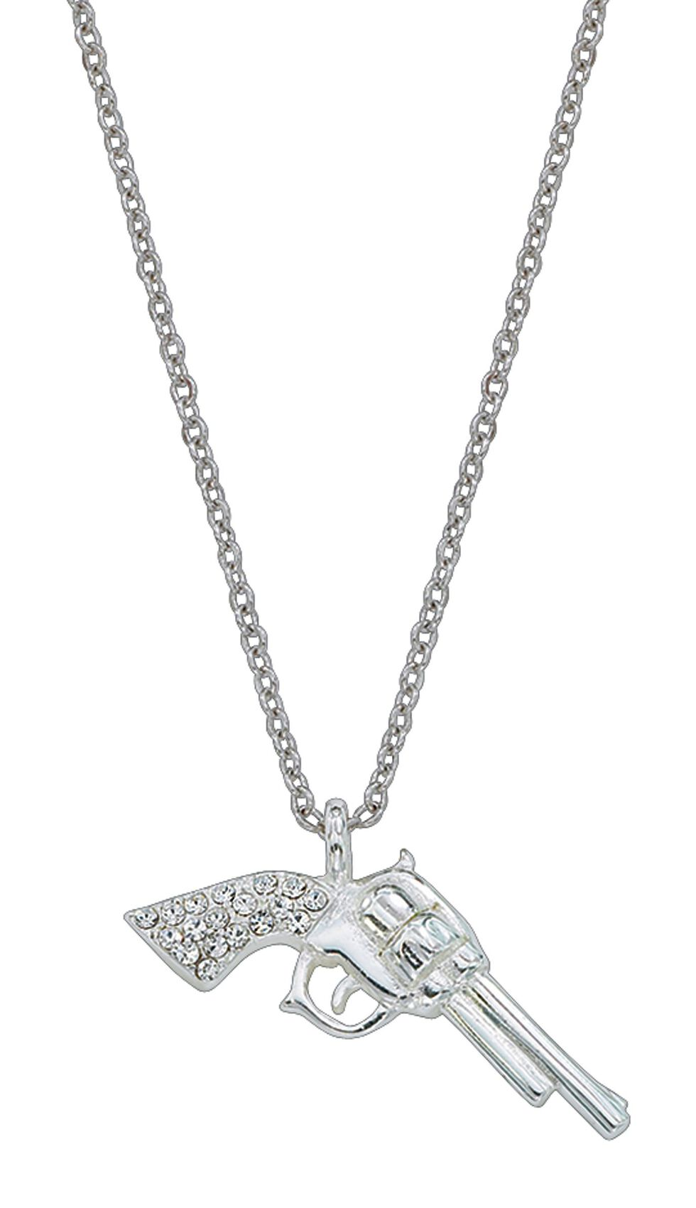 Montana Silversmiths Pistol Charm Necklace, Silver, hi-res