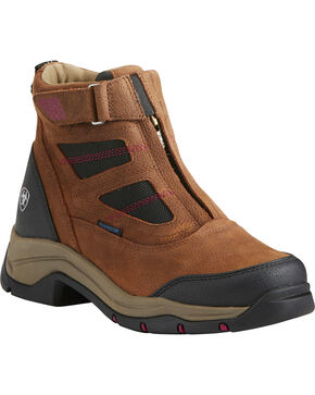 Ariat Women's Terrain Pro Zip H2O Brown Waterproof Boots - Round Toe, Brown, hi-res