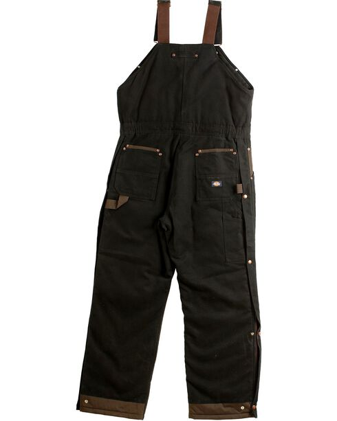 Dickies Sanded Duck Overalls, Black, hi-res