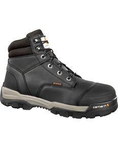 "Carhartt Men's Ground Force 6"" Work Boots - Composite Toe, Black, hi-res"