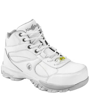 Nautilus Men's White Athletic Work Shoes - Steel Toe, White, hi-res