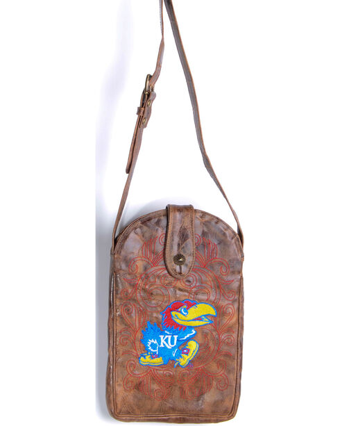 Gameday Boots University of Kansas Crossbody Bag, Brass, hi-res