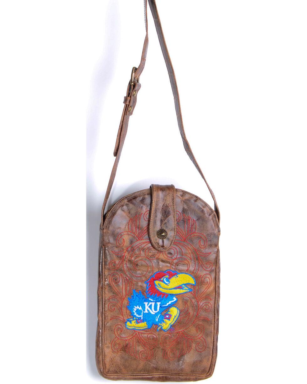 Gameday Boots University of Kansas Crossbody Bag, Brass, hi-res