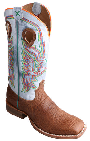 Twisted X Ruff Stock Peanut Brown Cowboy Boots - Square Toe, Peanut, hi-res