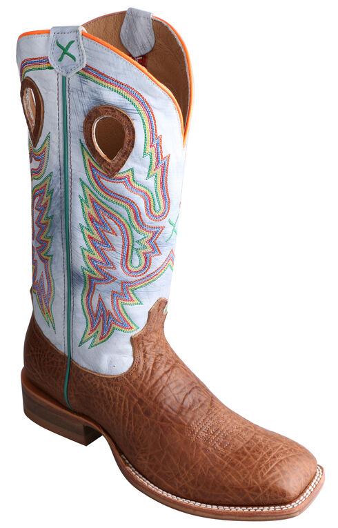 Twisted X Ruff Stock Peanut Brown Cowboy Boots - Square Toe, Peanut, hi-res
