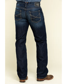 Ariat Men's M5 State Robbie Dark Rigid Stackable Slim Straight Jeans , Indigo, hi-res