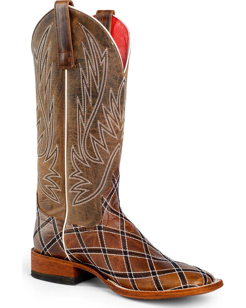Anderson Bean Boots Macie Bean Sabotage Cowgirl Boots - Square Toe, Mocha, hi-res