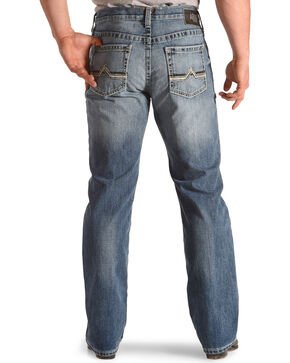 Ariat Men's M4 Maxwell Low Rise Relaxed Fit Jeans - Boot Cut, Blue, hi-res