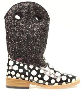 Blazin Roxx Youth Girls' Pearl Polka Dot Glitter Boots, Black, hi-res