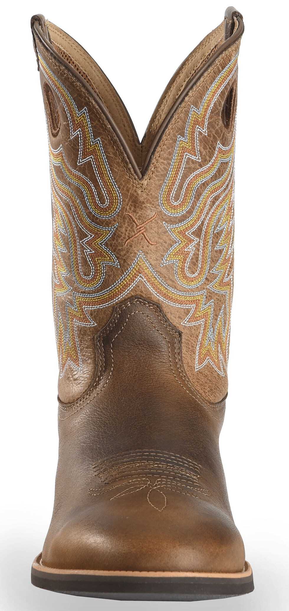 Twisted X Tan Joe Beaver Calf Roper Cowboy Boots - Round Toe, Brown, hi-res