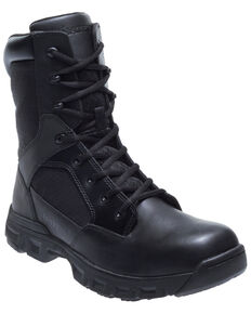 "Bates Men's 8"" Tactical Sport Work Boots - Round Toe, Black, hi-res"