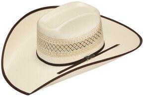 817e0c8aa24 Twister 10X Shantung Brown Ribbon Bound Brim Straw Cowboy Hat