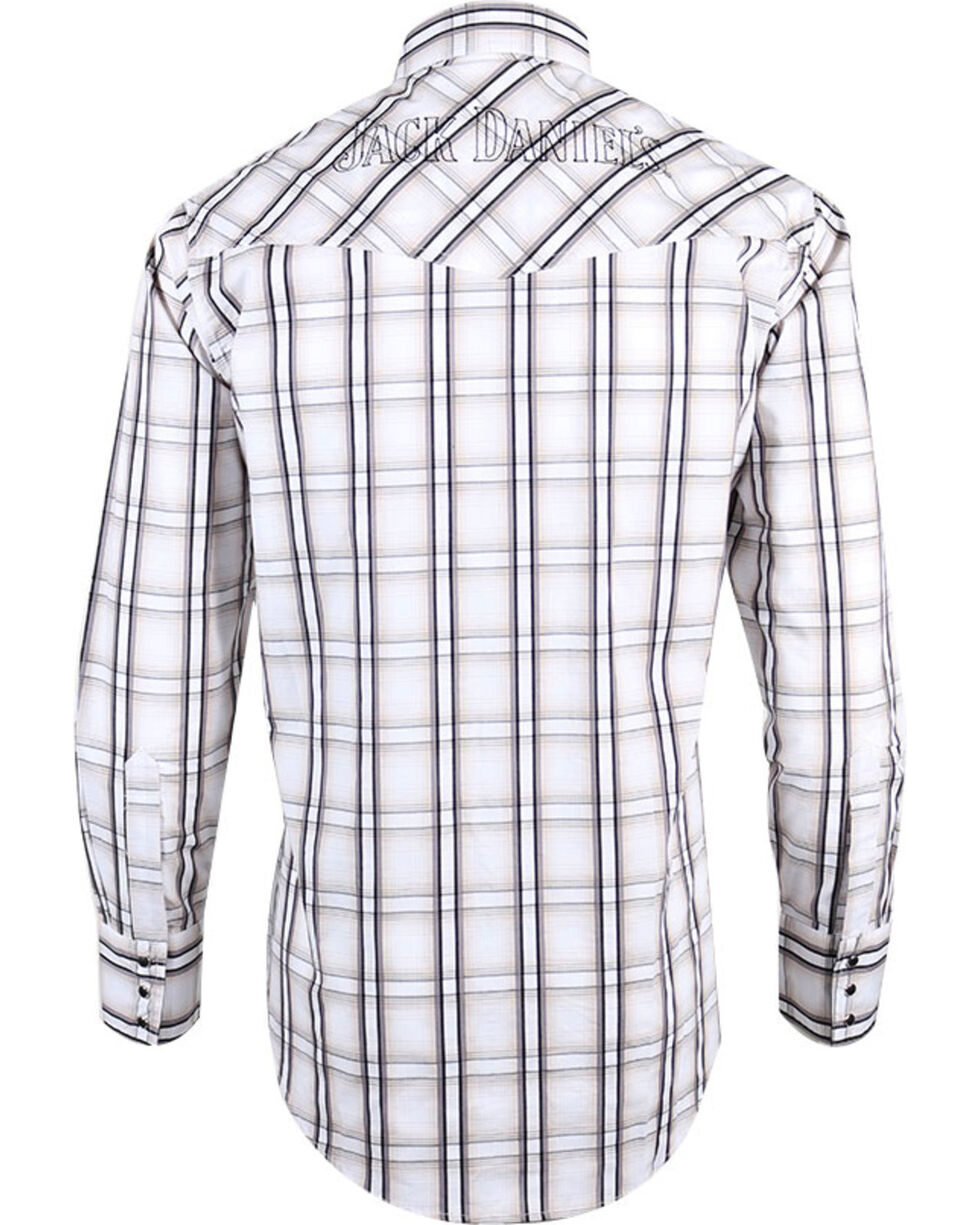 Jack Daniels by Ely Cattleman Men's Plaid Western Shirt , Tan, hi-res