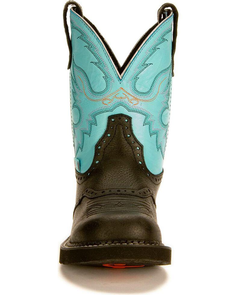Justin Gypsy Women's Gemma Light Blue Cowgirl Boots - Round Toe, Black, hi-res