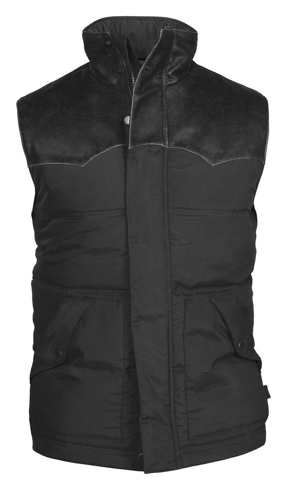 STS Ranchwear Men's Lucas Down Style Black Vest, Black, hi-res
