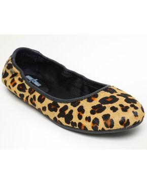 Minnetonka Women's Anna Leopard Flats - Round Toe, Leopard, hi-res