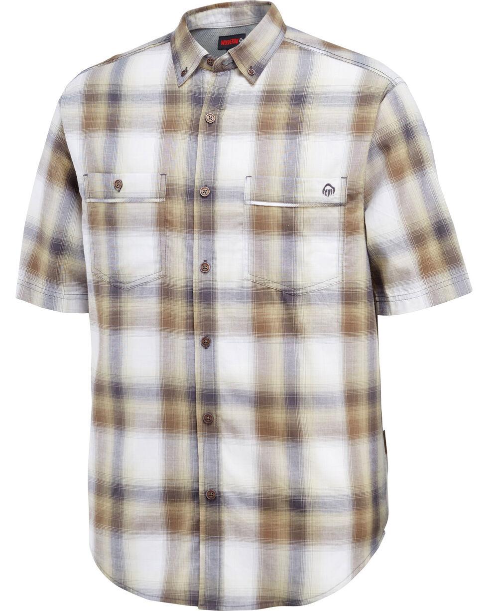 Wolverine Men's Plaid Printed Double Pocket Short Sleeve Shirt, , hi-res