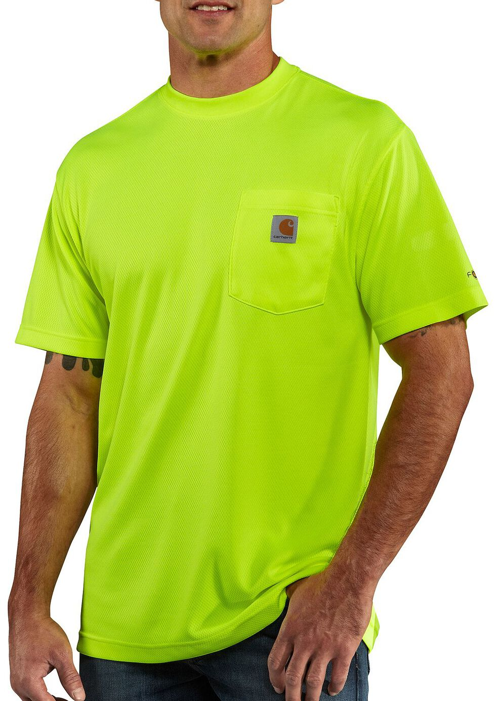 Carhartt Force Color-Enhanced T-Shirt - Big & Tall, Lime, hi-res