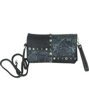 Savana Women's Patchwork Design Crossbody Bag, Black, hi-res