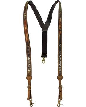 Nocona Mossy Oak Leather Suspenders, Assorted, hi-res