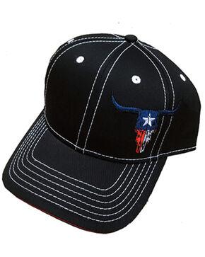Cowboy Hardware Texas Skull Ball Cap , Black, hi-res