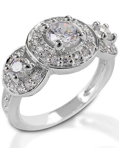 Kelly Herd Women's Three Stone Ring , Silver, hi-res