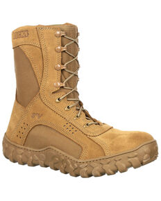 Rocky Men's S2V Tactical Military Boots - Steel Toe, Taupe, hi-res