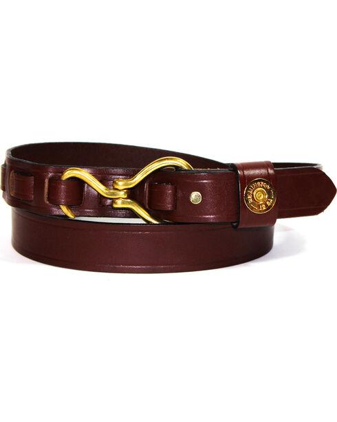 SouthLife Supply Men's Remington Horse Pick Belt, Chocolate, hi-res