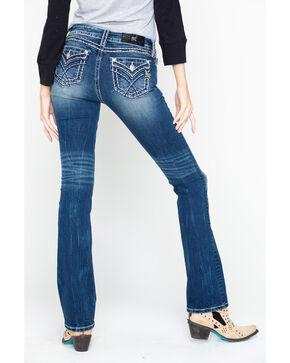 Miss Me Women's Sign Stitch Bootcut Jeans, Blue, hi-res