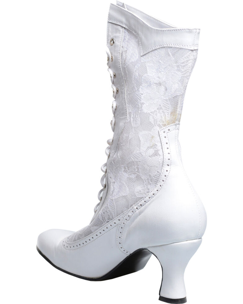 Oak Tree Farms Women's White Jennie Boots - Medium Toe, White, hi-res