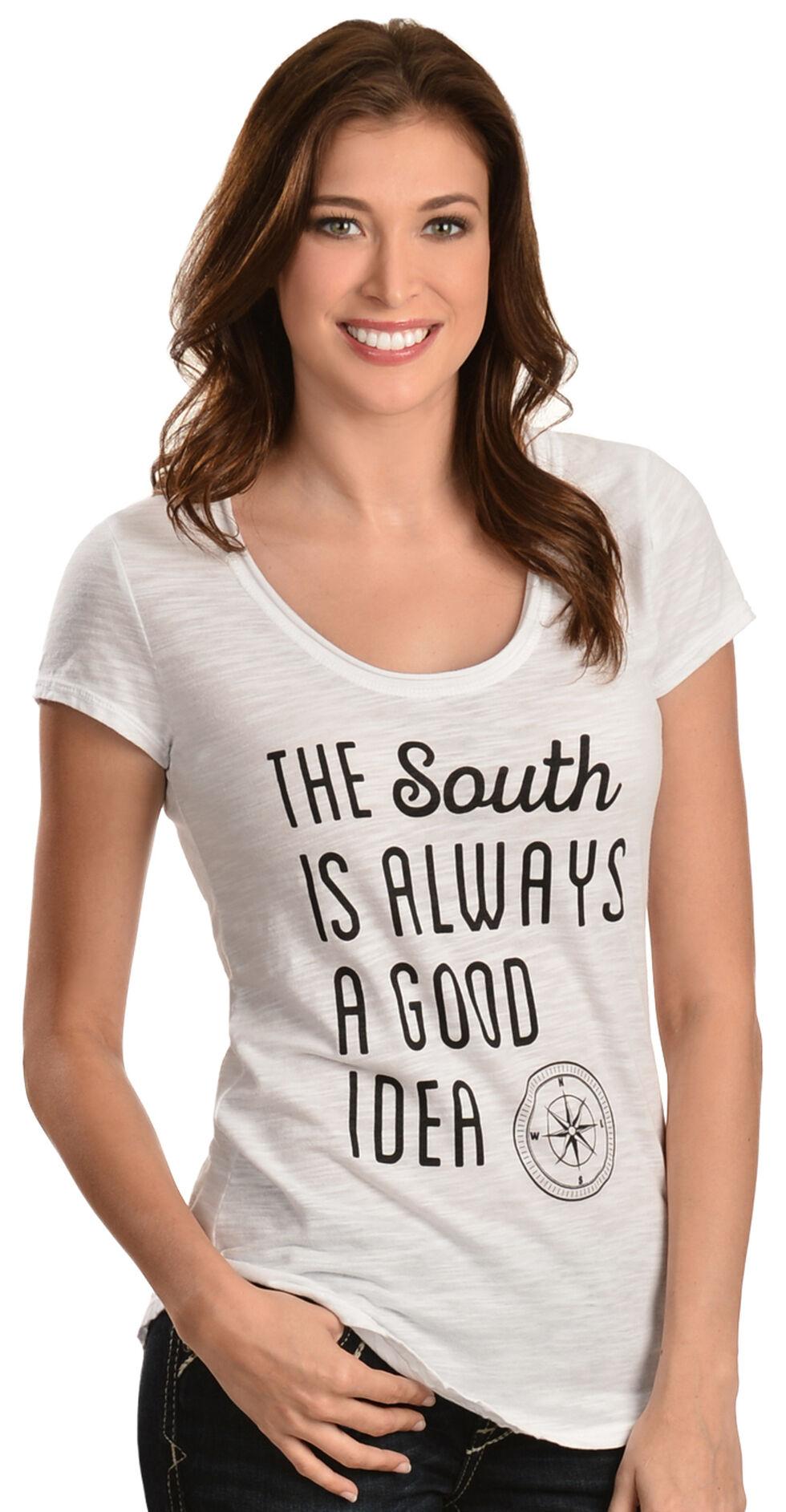 """ATX Mafia White """"The South is Always a Good Idea"""" Tee, White, hi-res"""