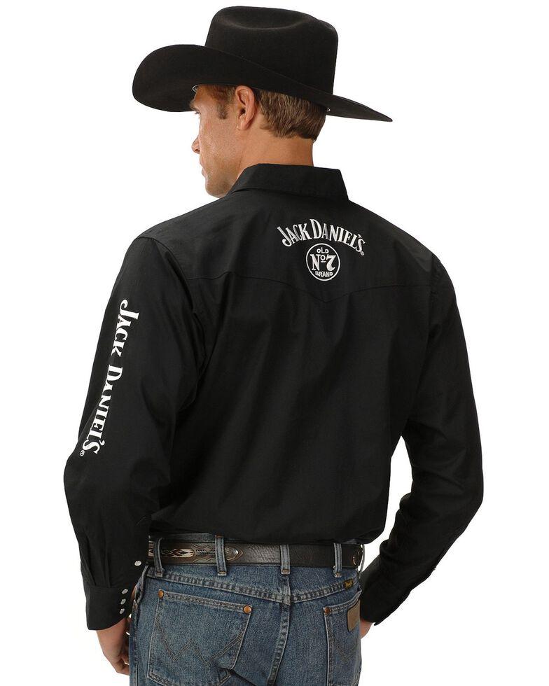 Jack Daniel's Men's Logo Rodeo Long Sleeve Western Shirt, Black, hi-res