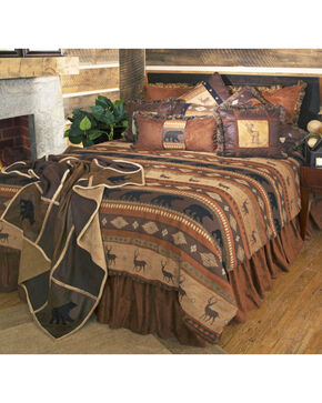 Carstens Autumn Trails Twin Bedding - 4 Piece Set, Rust Copper, hi-res