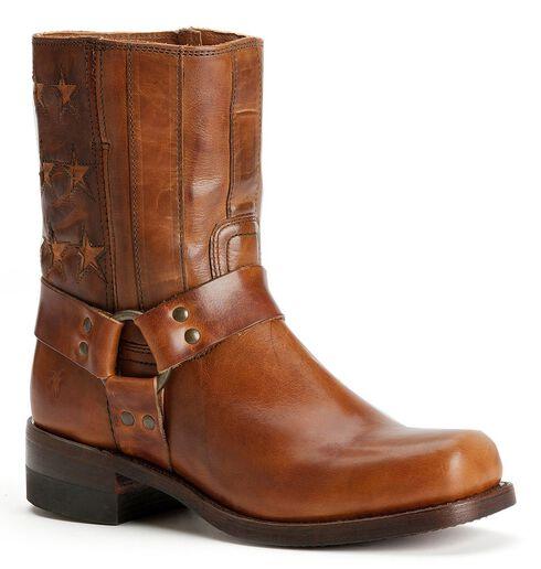 Frye Men's Harness Americana Short Boots - Square Toe, Tan, hi-res
