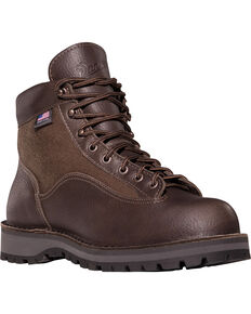Danner Men's Light II Hiking Boots - Round Toe, Dark Brown, hi-res