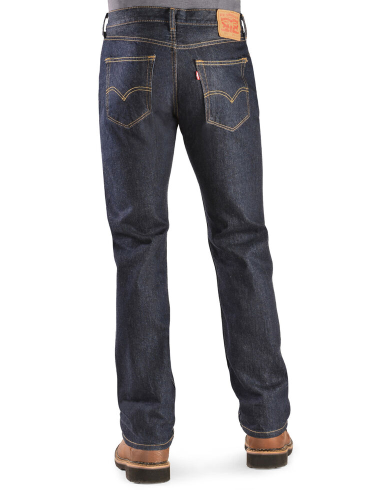Levi's Men's 505 Prewashed Regular Straight Leg Jeans, Rinsed, hi-res