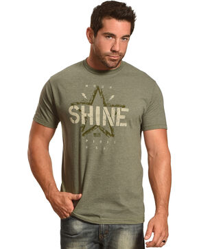 Moonshine Spirit Men's Vintage Star Tee, Black, hi-res