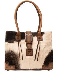 Carroll Co. Women's Cowhide Belt Tote Bag, Brown, hi-res