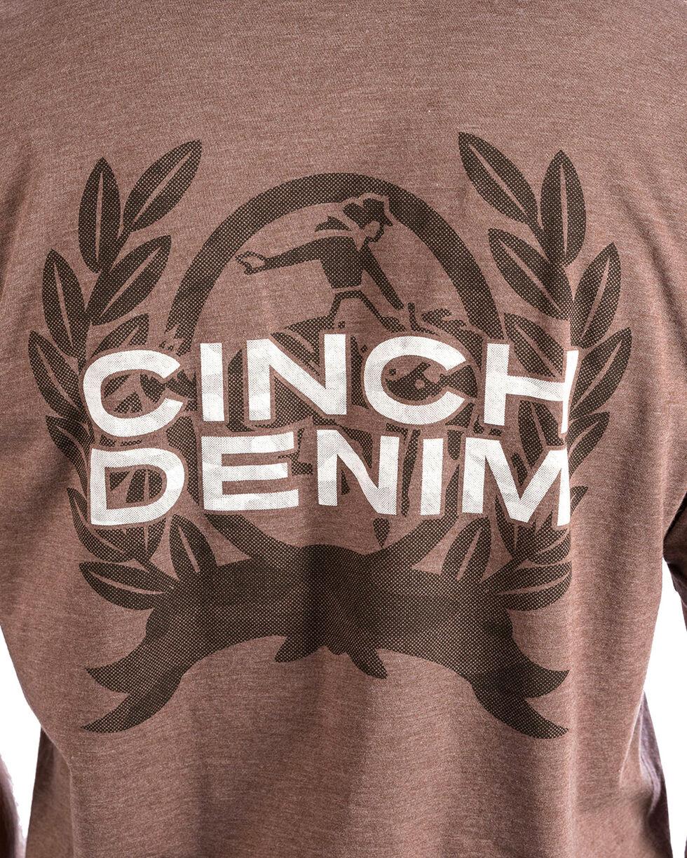 Cinch Men's Brown Classic Logo Tee , Brown, hi-res