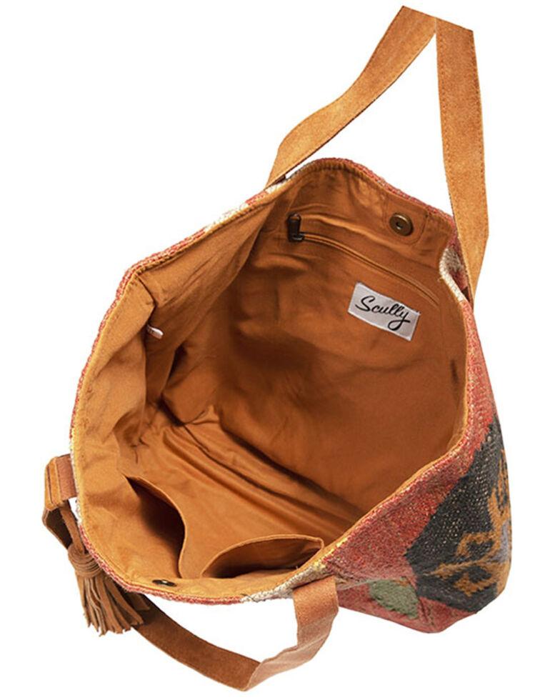Scully Women's Woven Suede Trim Handbag, Multi, hi-res