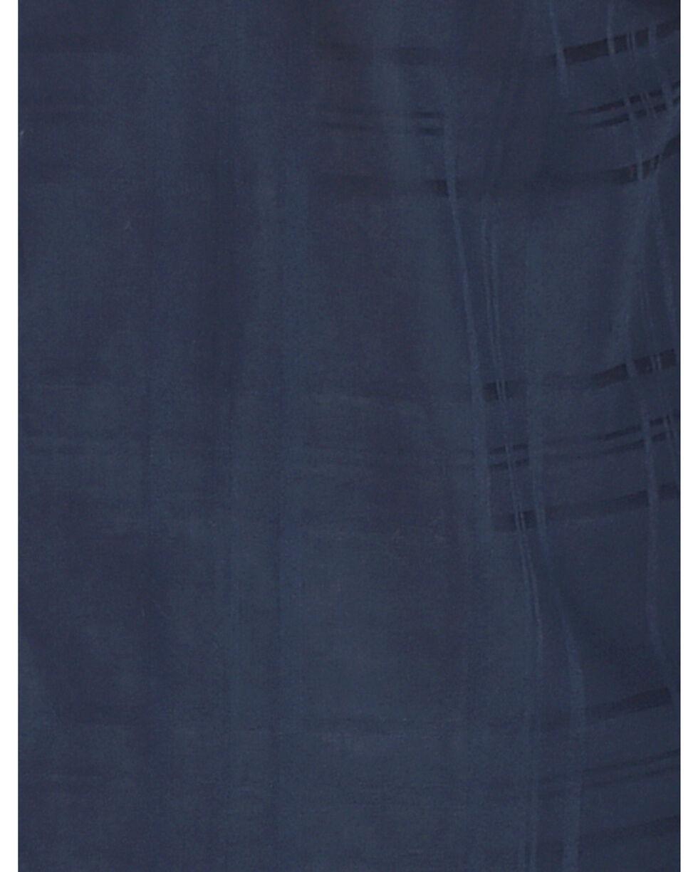 Ely Cattleman Men's Navy Windowpane Solid Long Sleeve Snap Shirt, Navy, hi-res