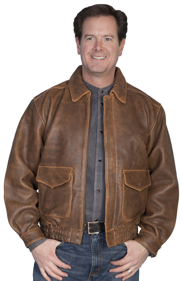 Scully Rugged Lambskin Leather Jacket, Antique Brown, hi-res