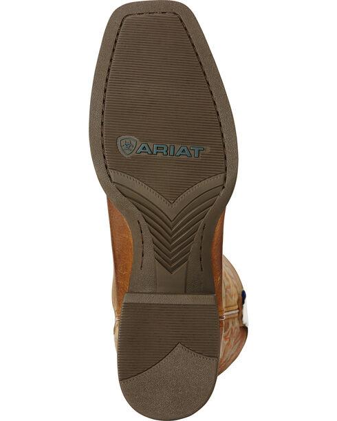 Ariat Powder Brown Sport Herdsman Cowboy Boots - Square Toe, Brown, hi-res