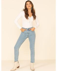 Levi's Women's 501 Fray Hem Skinny Jeans, Blue, hi-res