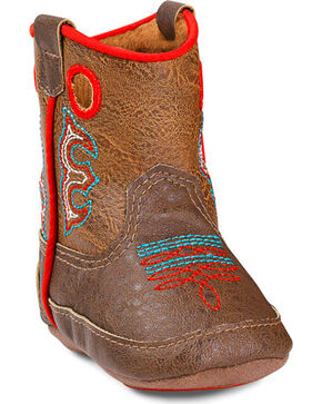 Double Barrel Infant Boys' Kolter Baby Bucker Boots, Brown, hi-res