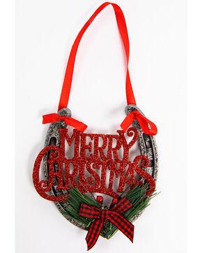 BB Ranch Merry Christmas Horseshoe Ornament, Multi, hi-res